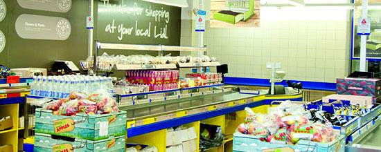 """In Großbritannien testet Lidl """"healthy tills"""": Kassen, an denen es Obst statt Gummibärchen gibt"""