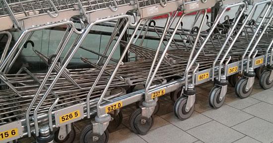 Bei Kaufland haben die Einkaufswagen Nummern