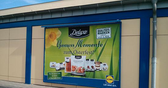 """Lidl-Werbung für die """"Deluxe""""-Eigenmarke zu Ostern 2013"""