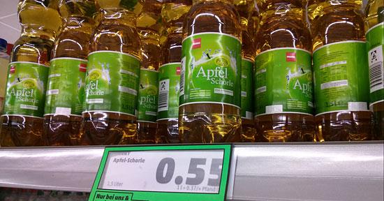 Einzelflaschenverkauf bei Penny