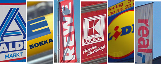 Supermarkt-Logos