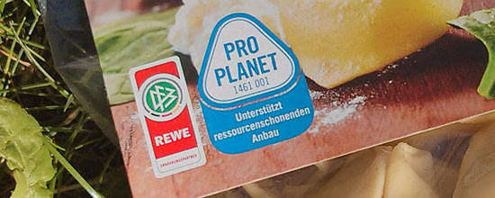 Rewe-Tortellini mit Pro-Planet-Label