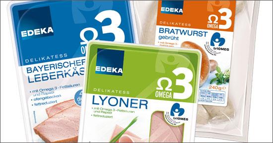Omega-3-Wurstaufschnitt von Edeka