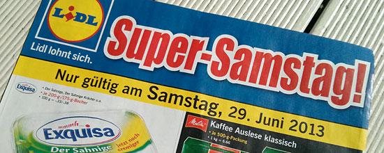 """Lidl-Werbung für den """"Super-Samstag"""""""
