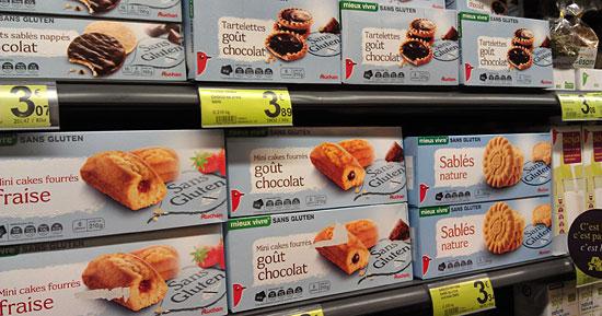 Kuchen- und Keks-Eigenmarken von Auchan im A 2 pas Paris