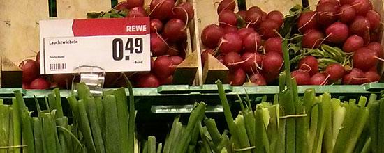 Frische Lebensmittel spielen beim Einkauf eine große Rolle