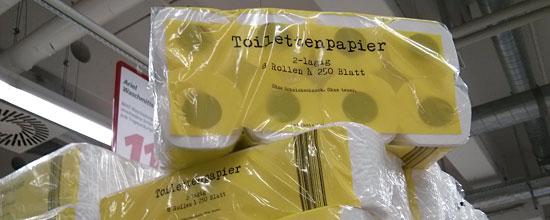 """""""Ohne teuer""""-Toilettenpapier wirbt mit: """"Ohne Kamille"""""""