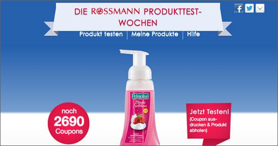 """""""Produkttester""""-Aktion von Rossmann auf Facebook"""