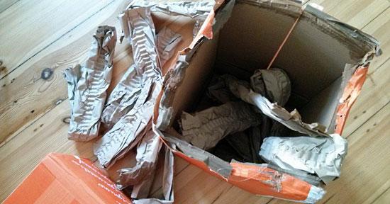 Lebensmittel aus dem orangenen Karton: Lieferung von Allyouneed.com