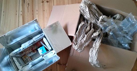 Füllmaterial so weit das Auge reicht: Polster und Kühlakkus von Allyouneed.com