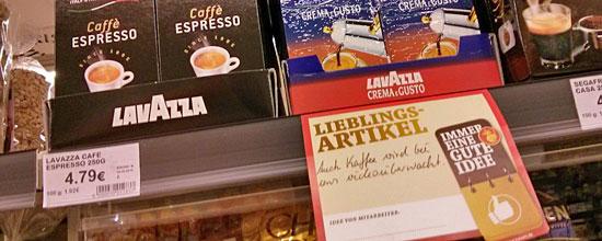 """Zettelkommunikation bei Kaiser's: """"Auch Kaffee wird bei uns videoüberwacht."""""""