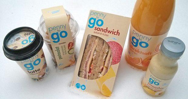 """Sandwich, Salat und Saft aus der Discount-Kühltheke haben geheiratet und heißen jetzt """"penny to go"""""""