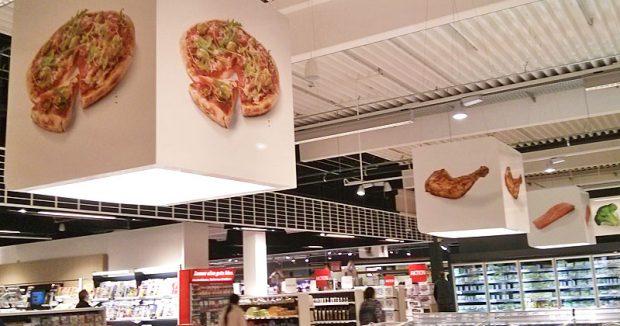 Wo geht's hier zur TK-Pizza? Die Signalwürfel mit Symbolbildern sollen bei der Orientierung helfen