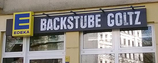 """E Backstube"" am Berliner Kollwitzplatz"