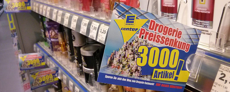 Edeka wirbt mit massiven Preissenkungen in seinen Drogerieabteilungen