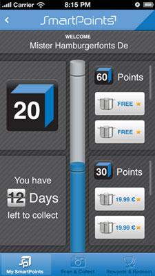 """Treuepunkte per """"Smartpoints""""-App sammeln: Bald soll auch in Deutschland getestet werden / Screenshot: TCC"""