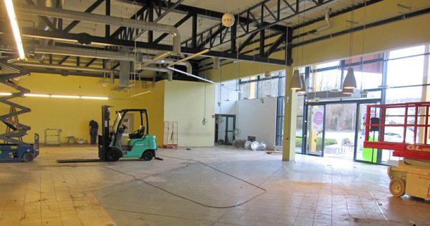 Für den Umbau wurde der Tegut-Markt komplett entkernt / Foto: (c) Tegut