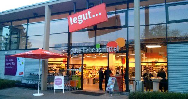 Der 2007 eröffnete Markt in Wiesbaden gehört bis 2010 Tengelmann und wurde dann von Tegut pbernommen