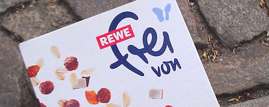 """Seit 2012 im Sortiment: """"Rewe frei von""""-Produkte"""