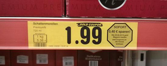 Schattenmorellen für 1,99 Euro (mit 'Gold-Coupon' weniger)