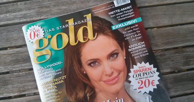"""""""gold - Das Star-Magazin"""" kostet bei Netto (ohne Hund) 66 Cent"""