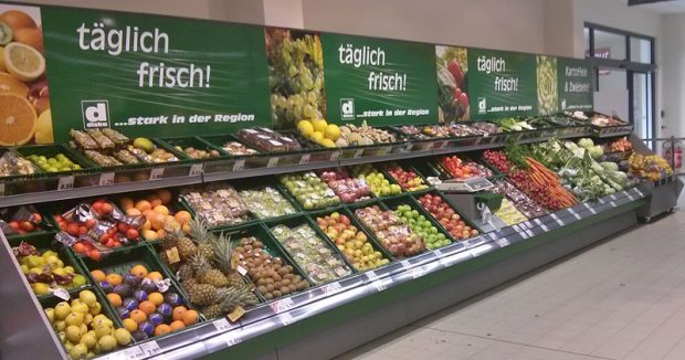Da hat aber jemand schön aufgeräumt! Obst und Gemüse bei Diska in Chemnitz