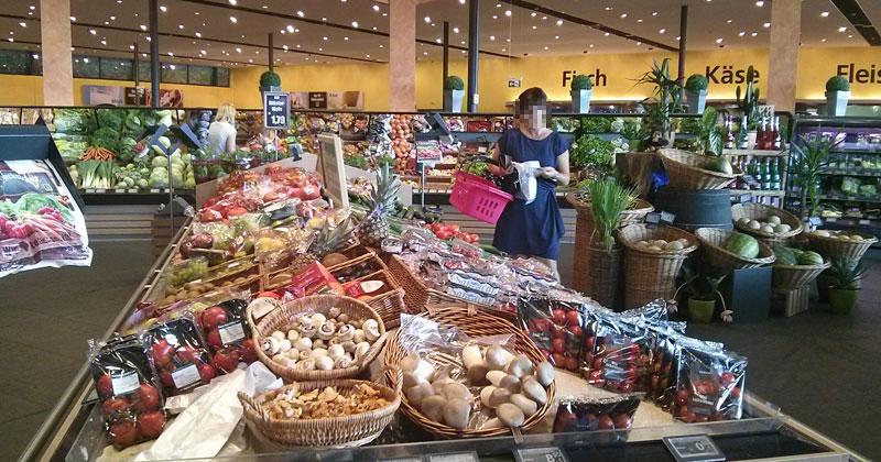 Edeka in Ingolstadt: Erleuchtung am Gemüseregal und freier Blick in den Laden