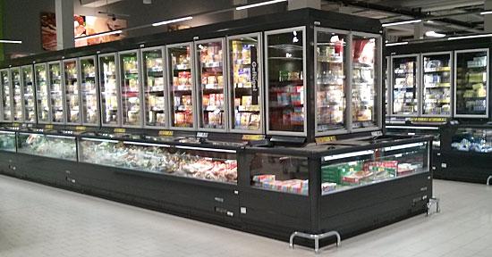 Kühlmöbel in neuer Kaufland-Filiale