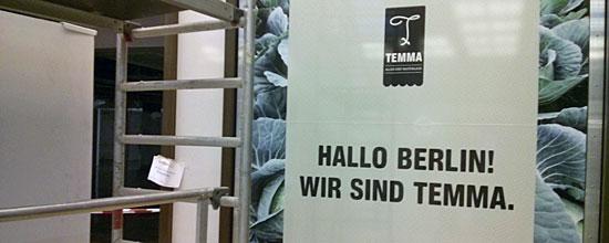 """""""Hallo Berlin, wir sind Temma"""", begrüßt der Rewe-Ableger die Hauptstädter"""