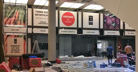 """Achtung, Baustelle: Temma komt ins Untergeschoss des Berliner Einkaufszentrums """"The Q"""""""