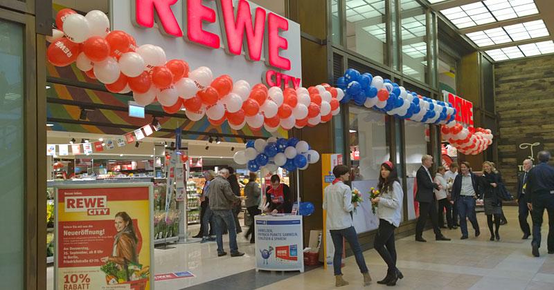 Neuer Rewe City im The Q in der Friedrichstraße