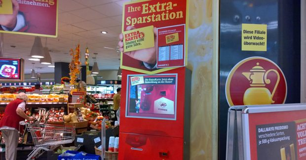 Extra-Sparstation im Kasier's-Supermarkt
