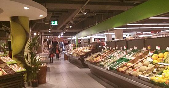 Bin ich noch Obst und Gemüse? Im Karstadt-UG erkennen Sie's am grünen Band