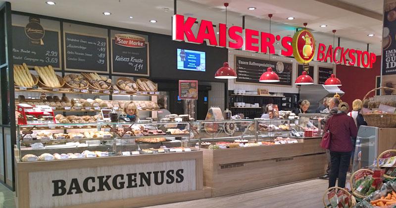 Kaiser's Vorkassenbäcker heißt Backstop, nicht zu verwechseln mit der bekannten deutschen Country-Band