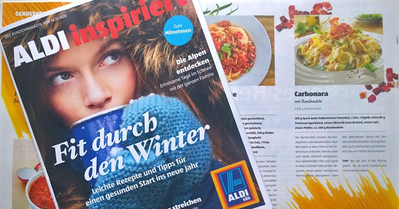 """Neues Kundenmagazin """"Aldi inspiriert"""""""