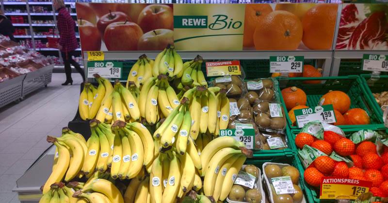 Bio-Bananen bei Rewe
