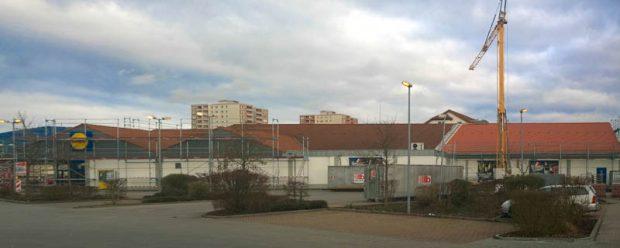 Lidl-Anbau in Hessen