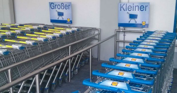 Einkaufswagen-Auswahl bei Lidl in Chemnitz