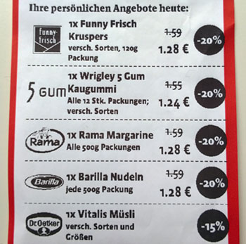"""Angebote auf dem Kaiser's """"Extra Sparschein"""""""