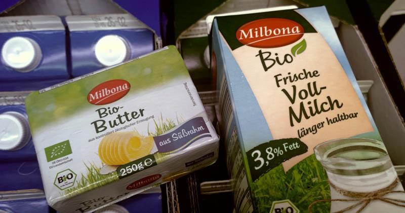Lidls Bio-Butter und Bio-Milch unter neuem Eigenmarkenlabel