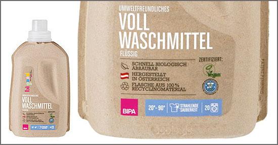 Waschmittel aus der Recyclingflasche bei Bipa in Österreich