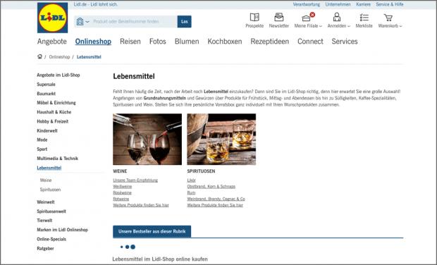 Lidl Stoppt Den Verkauf Von Lebensmitteln Im Online Shop Und