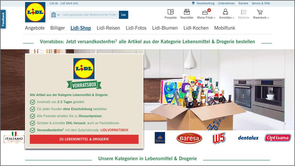 lidl online shop gutschein