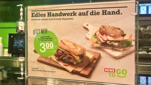 """Lord & Lady Baguettes"" sind die neuste Rewe-to-Go-Innovation."