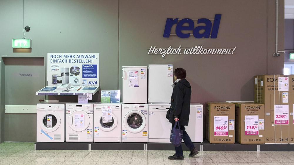 Kleiner Kühlschrank Real : Reals mogel modernisierung in dinslaken dasselbe in grau
