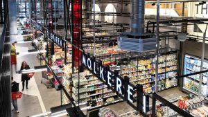 City-Supermärkte (5): Einkauf mit Propeller – Rewe Surdanovic in den Hamburger Zeisehallen
