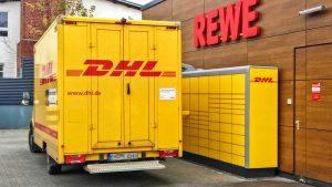 """DHL stellt die neue """"Packstation Kompakt"""" bei Aldi, Rewe und Netto (ohne Hund) auf"""